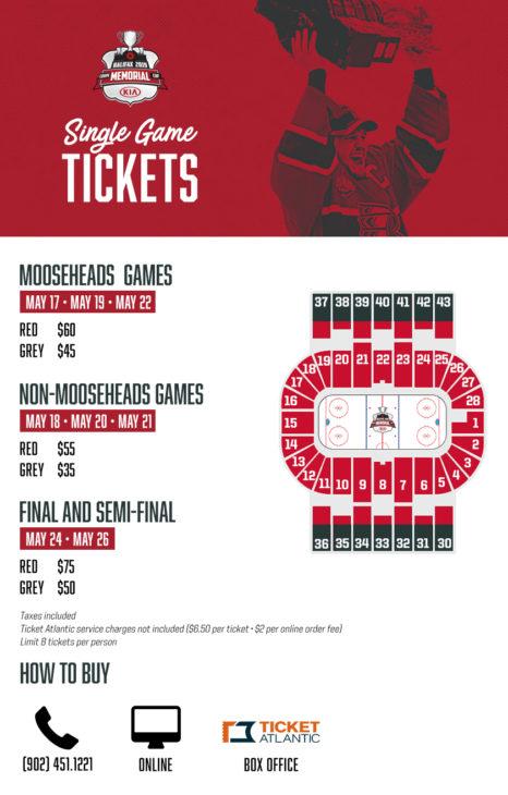 Individual Tickets Memorial Cup