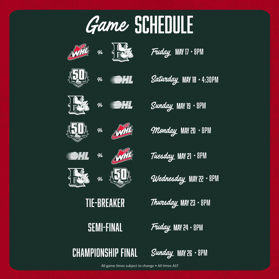 2019 Memorial Cup Game Schedule – Memorial Cup
